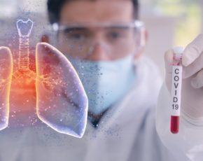 Ilustração médico analisando amostra